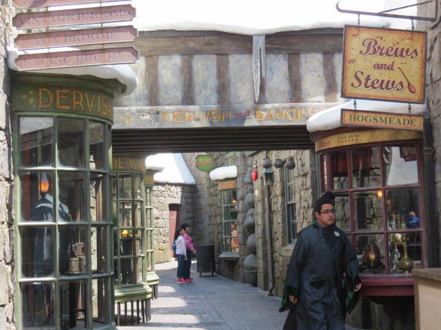 Hogsmeade district has all your wizarding needs.