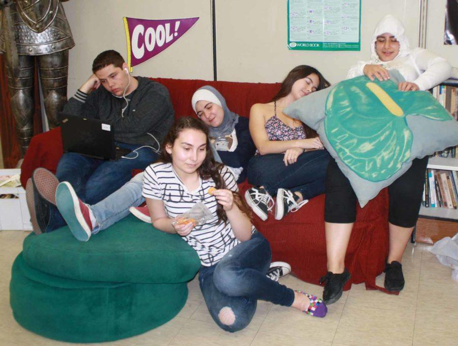 These UC High Seniors are suffering from severe Senioritis.