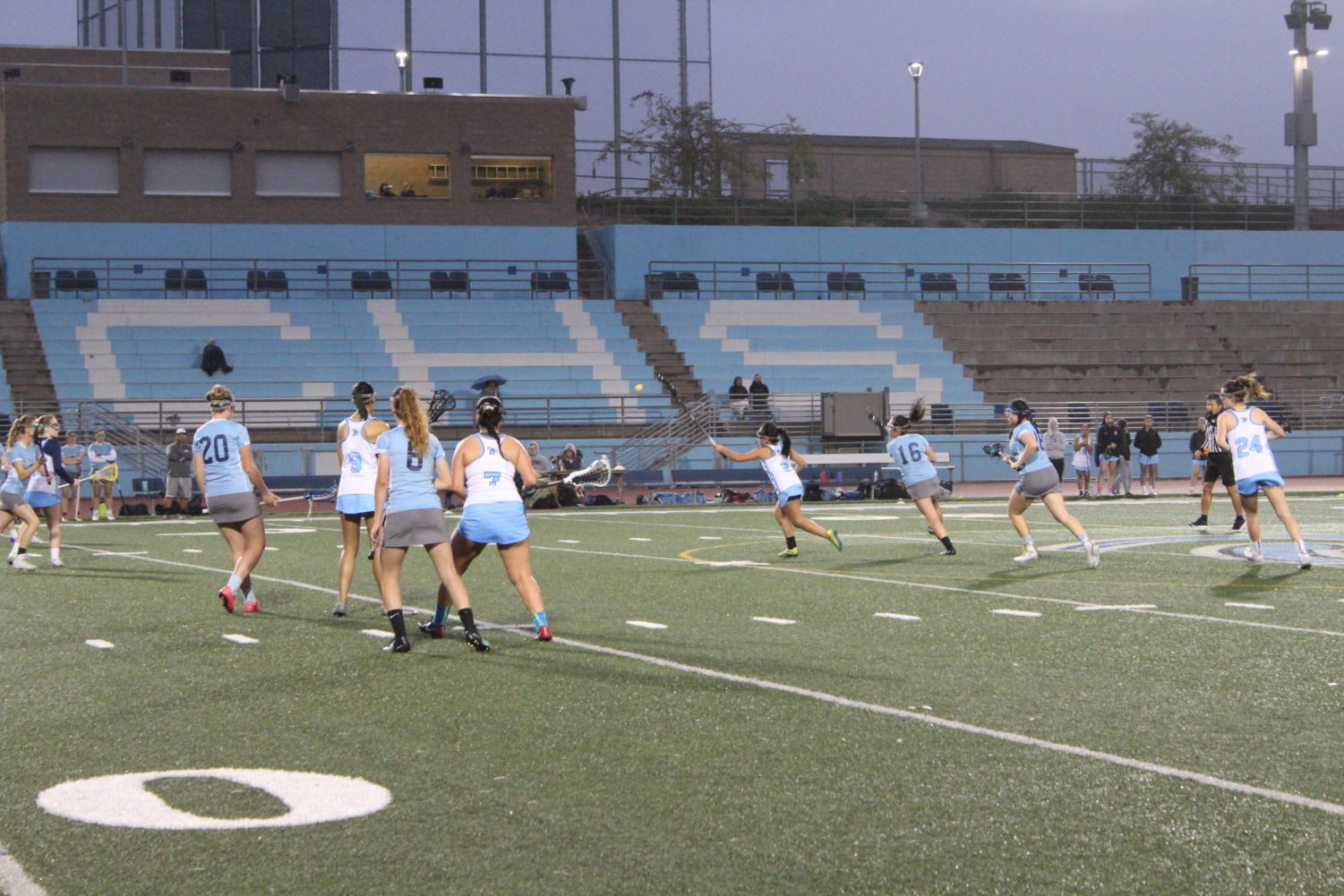 Girls Lacrosse competes against Academy of Our Lady of Peace.