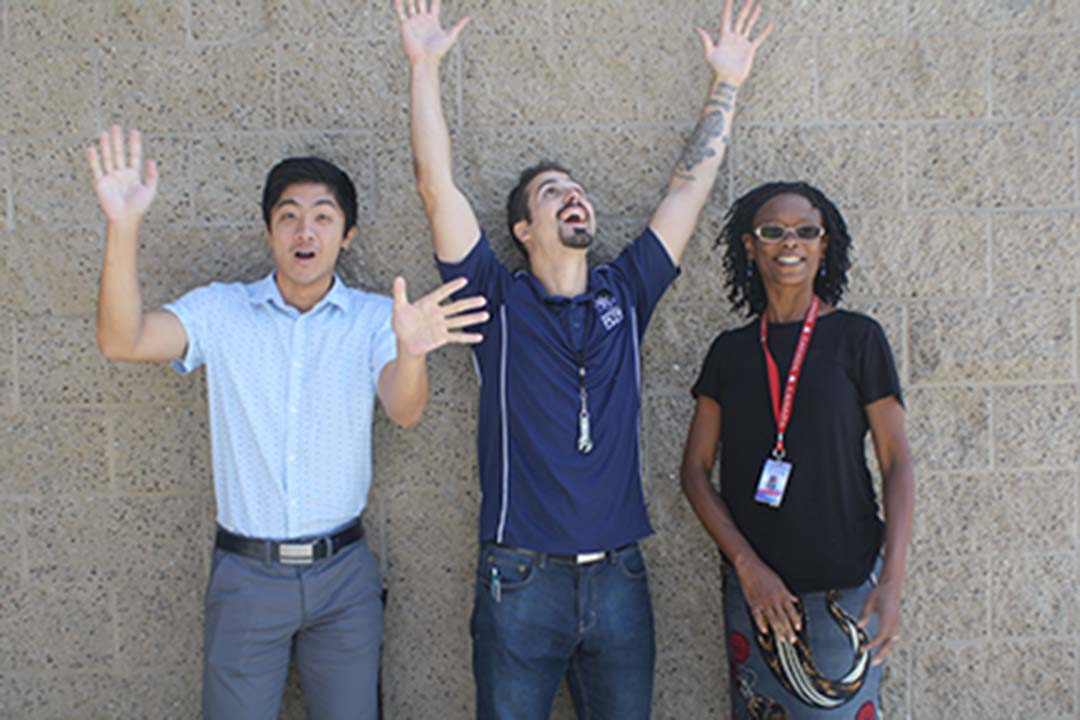 C High welcomes New Teachers Justin Nguyen, Brandon Tarrac, and Sabina Adjibolosoo.