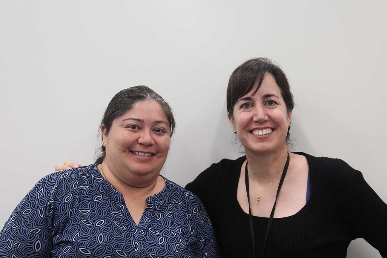 New Counselors Belen Bahena and Kim George are ready for the new school year.