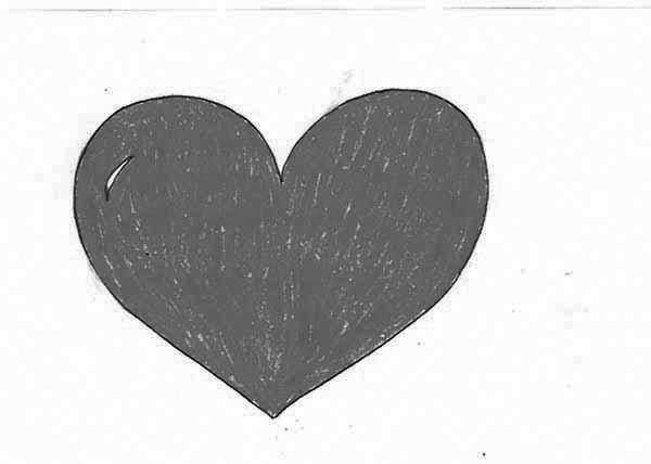 valentines day art bnw happy