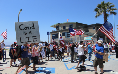 San Diegans join forces to publicly display their frustration regarding the limitations set on liberties, leisurely activities and the openings of small businesses.