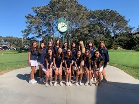 The 2019 UC High Girls Golf Team poses for a picture after become League champions
