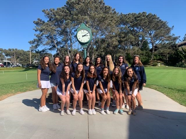 The+2019+UC+High+Girls+Golf+Team+poses+for+a+picture+after+become+League+champions